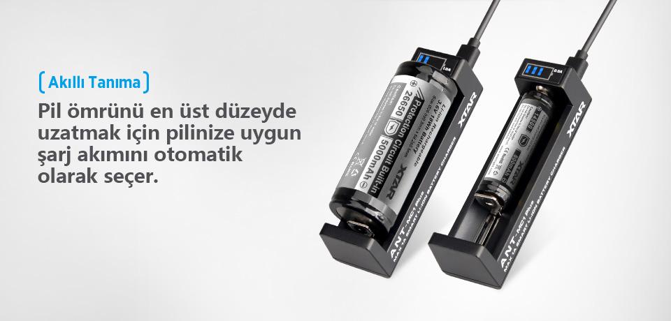 Xtar MC1 Plus Şarj Akımını Otomatik Tanır