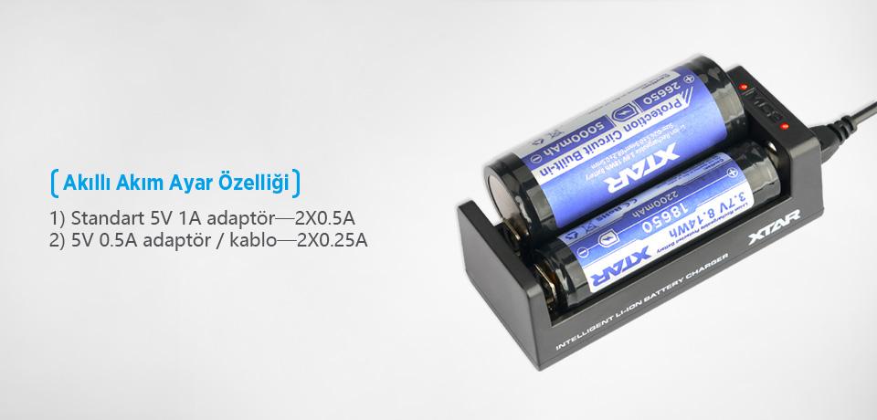 Xtar MC2 Şarj Akımını Otomatik Tanır