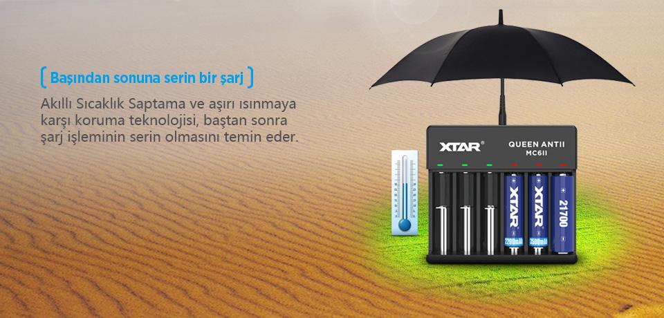 Xtar Queen ANT MC6 II Şarj Cihazı