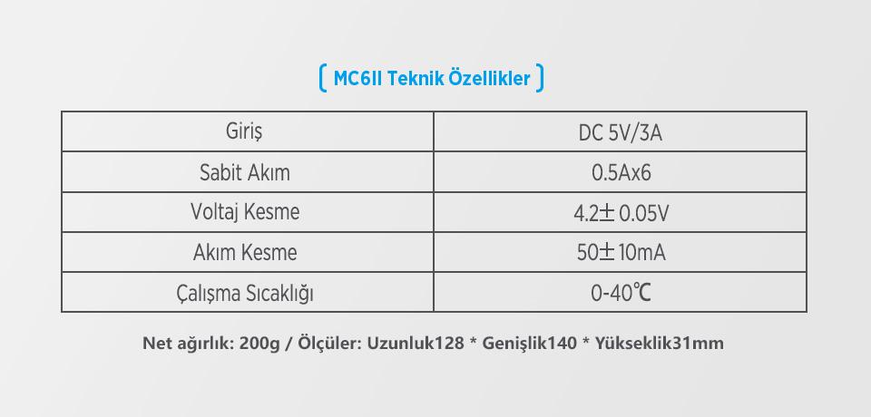 Xtar Queen ANT MC6 II Teknik Özellikleri