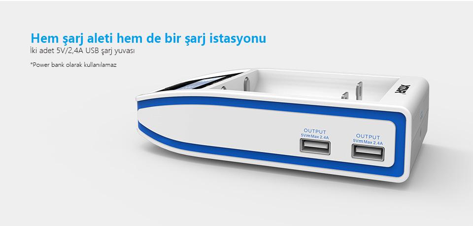 Xtar Over 4 Slim Şarj Cihazı
