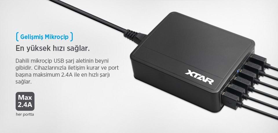 Xtar U1 SIX-U Dahili Mikroçipli USB Şarj Aleti