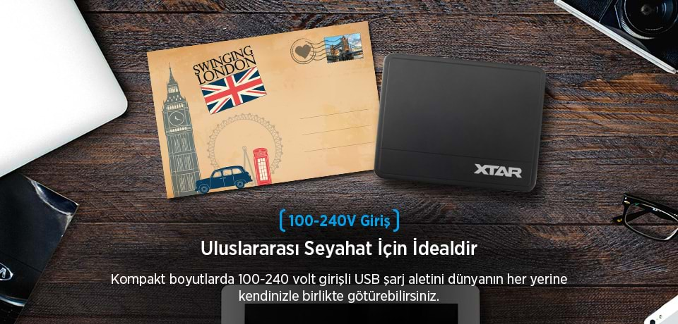 Xtar U1 SIX-U 100-240V Giriş