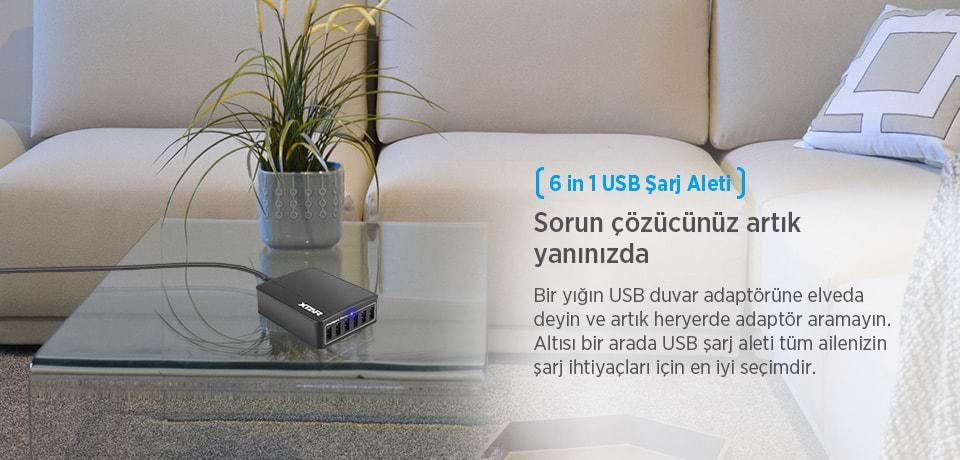 Xtar U1 SIX-U Tüm Cihazlarınız için Tek Şarj Cihazı