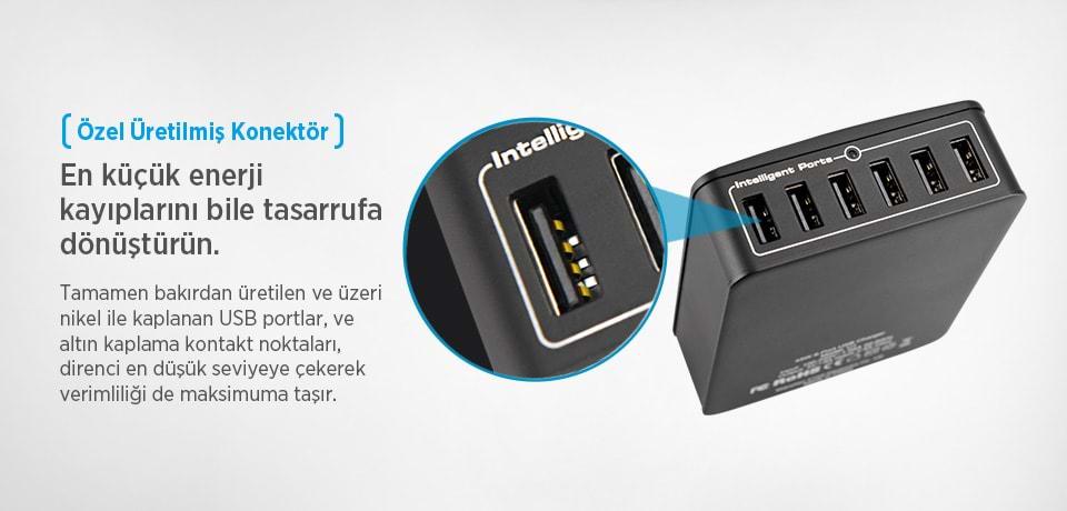 Xtar SIX-U 45W 6-Port USB HUB Çoğaltıcı