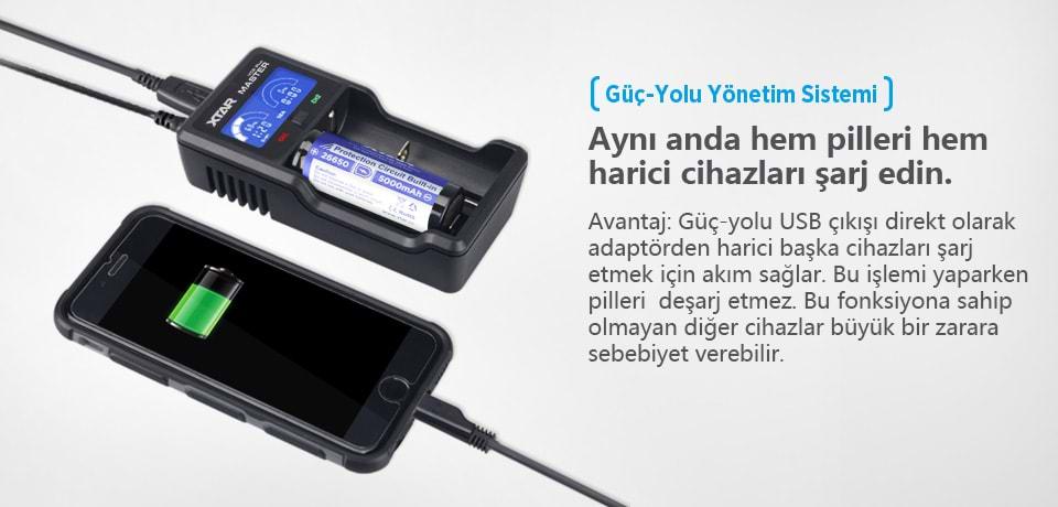 Xtar VC2 Plus ile Aynı Anda Telefon ve Pili Şarj Edin