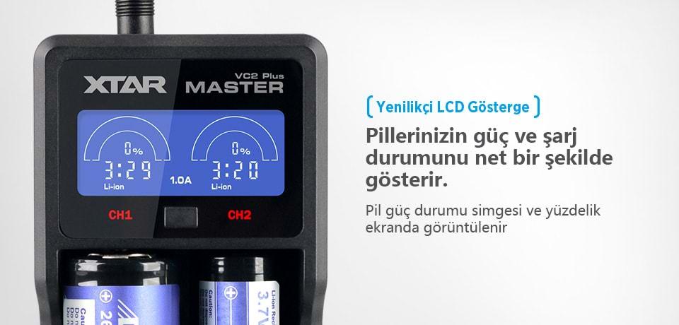 Xtar VC2 Plus Master PowerBank Fonksiyonu