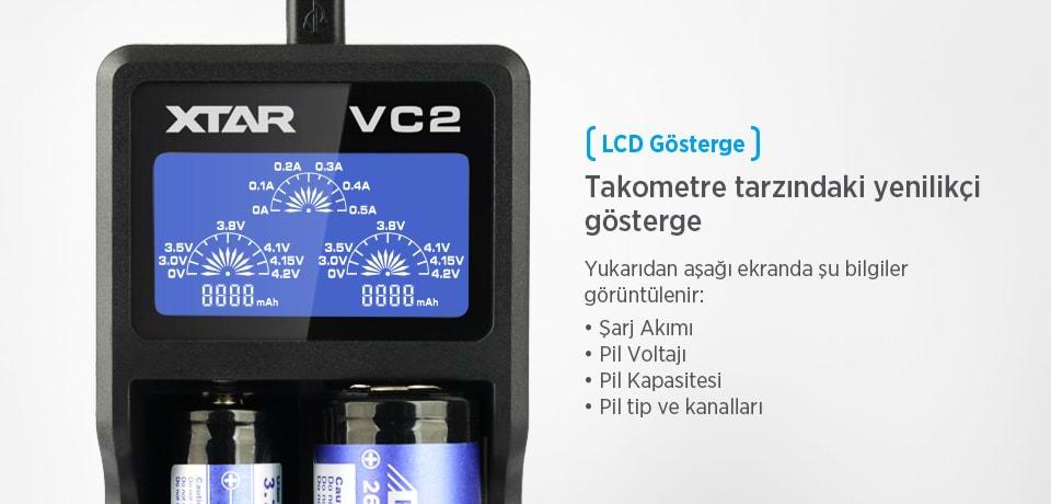 Xtar VC2 Universal LCD Gösterge
