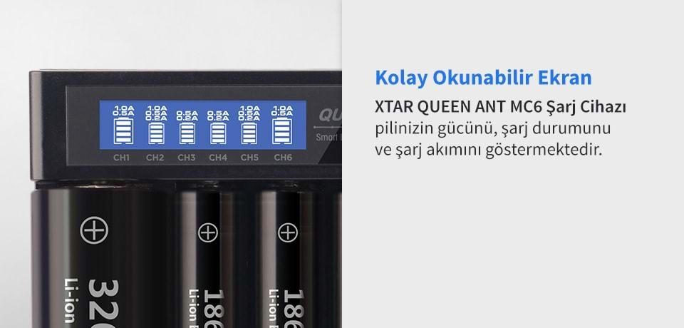 Xtar Queen Ant MC6 Kolay Okunabilir Ekran