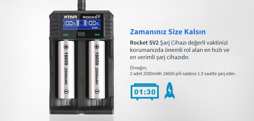 Xtar Rocket SV2 En Verimli Pil Şarj Aleti