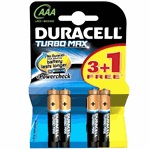 Duracell Turbo Max AAA Size 3+1 İnce Kalem Pil