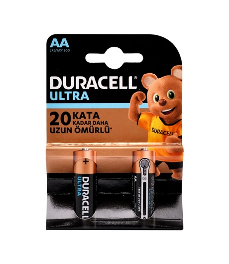 Duracell Turbo Plus Kalem Pil AA 2li