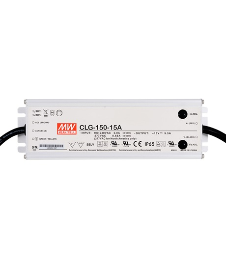 Mean Well MW-CLG-150-15A 15V 9.50A 143W LED Power Supply
