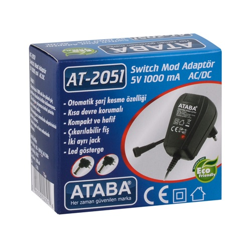 Ataba AT-2051 5V 1 Ah Switch Mode Adaptör