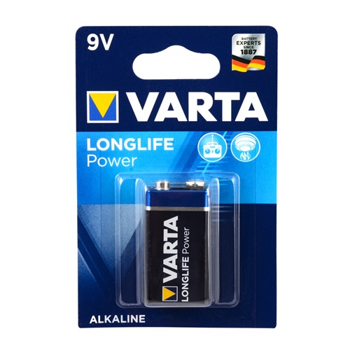 Varta 4922 Longlife Power 9V Pil 1li