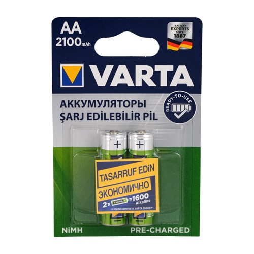 Varta 56706101412 AA 2100 mAh Kalem Pil Ready2Use 2li Blister