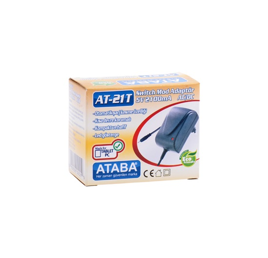 Ataba AT-21T 5V 2100Mah Tablet Pc Switch Mode Adaptör İğne Uç